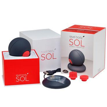 Revel Body Sol Уникальный инновационный вибромассажер дополнительные насадки quietcore для пульсатора revel body kiti and tikl