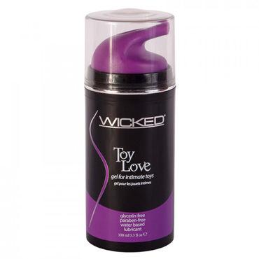 Wicked Toy Love, 100мл Лубрикант для игрушек с экстрактом алоэ viamax tight gel 15 vk 8