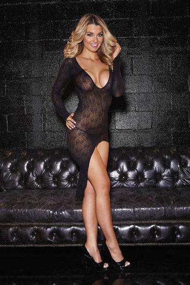 Hustler Платье С глубоким овальным вырезом р kiss me unwrap me черный