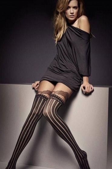 Veneziana Clarisse, черные Колготы с имитацией чулок страпоны fun factory
