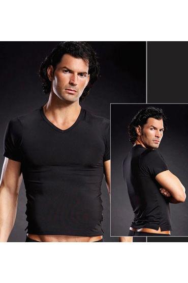 BlueLine Мужская футболка, черная Обтягивающая и сексуальная