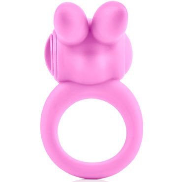 California Exotic Silicone Jack Rabbit Ring, розовое - фото, отзывы