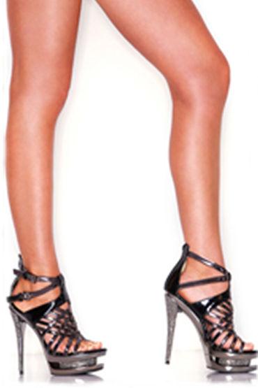 Hustler босоножки, черные Лаковые, со стразами hustler x treme лаковые фетиш туфли размер 37