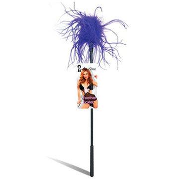 Lux Fetish щекоталка С фиолетовыми перьями lux fetish щекоталка с перьями цвета фуксии