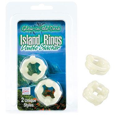 California Exotic Island Rings Double Stackers Эрекционные кольца, светящиеся в темноте