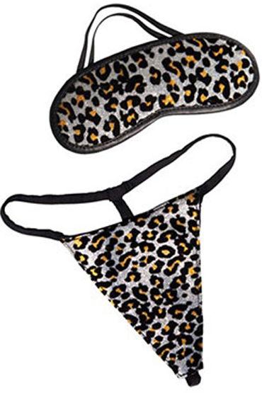 California Exotic Extreme Pure Gold, платиновый Леопардовые стринги и маска на глаза desire mini v 5 мл интимный гель для женщин c эффектом сужения