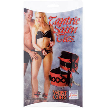 California Exotic Tantric Satin Ties Атласные  манжеты на руки real doll ally реалистичная секс кукла