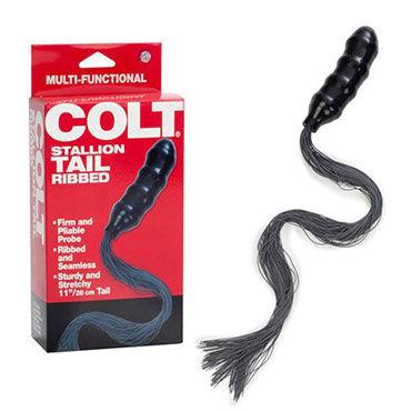 California Exotic Colt Stallion Tail Упругий фаллос с хвостиком кольца на пенис colt прозрачные