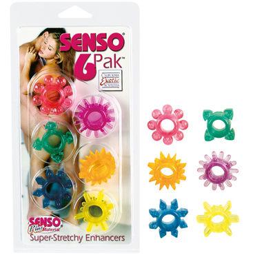 California Exotic Senso 6 Pak Набор из шести разноцветных колец