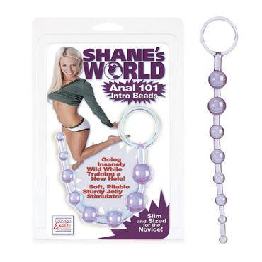California Exotic Shanes World, фиолетовый Анальная цепочка