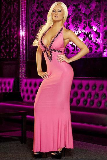 Hustler платье, розовое С вырезом-капелька массажная свеча shunga экзотические фрукты 200 мл
