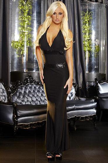 Hustler платье С полностью обнаженной спиной cotelli платье горничной черно белое с открытой спиной с застежкой на шее