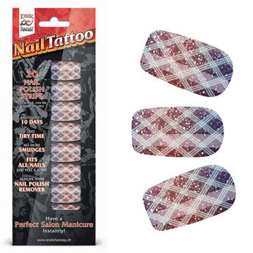 Erotic Fantasy Nail Tattoo, блестящий градиент Набор лаковых полосок для ногтей real doll child japan