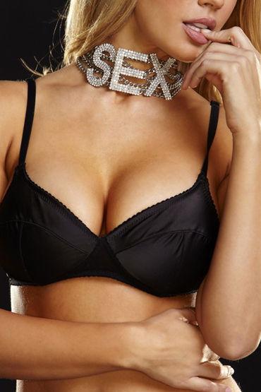Ann Devine Sex Choker Ошейник с провокационной надписью широкий ошейник sex золотой
