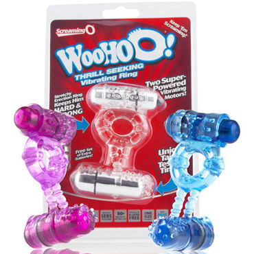 Screaming O WooHoo Кольцо с двумя виброэлементами toyfa black