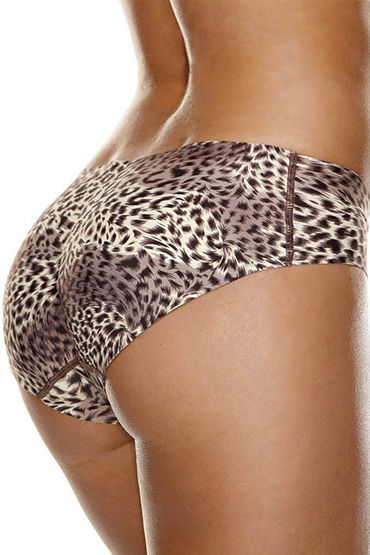 Hollywood Curves Booty Booster, леопардовый Трусики с push-up эффектом к hollywood curves bra strap converter черный