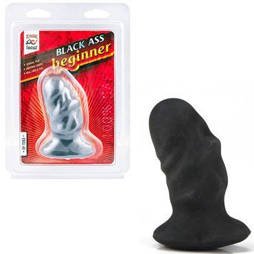Erotic Fantasy Ass Beginner Dildo, черный Анальная пробка для начинающих fleshjack ass original