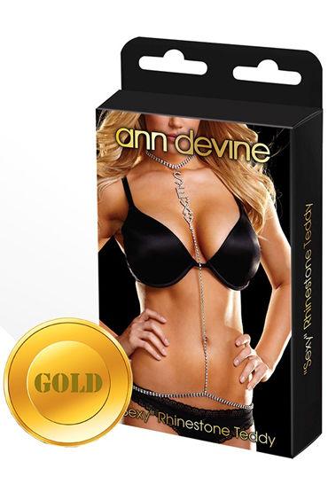 Ann Devine Phinestone Teddy, золотой Украшение на тело durex презервативы 20 шт резьбовой 8 прохладный 12