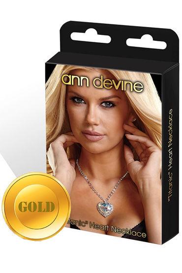 Ann Devine Titanic Heart Necklace, золотой Цепочка с большим сердцем leg avenue комбинезон черный с вырезами на бретельках