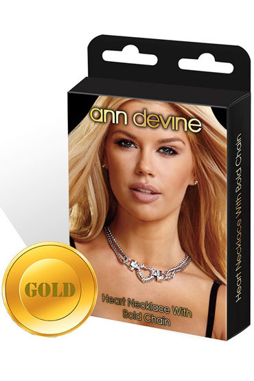 Ann Devine Heart Necklace, золотой Колье с подвеской-сердцем украшения для шеи и рук материал эластан