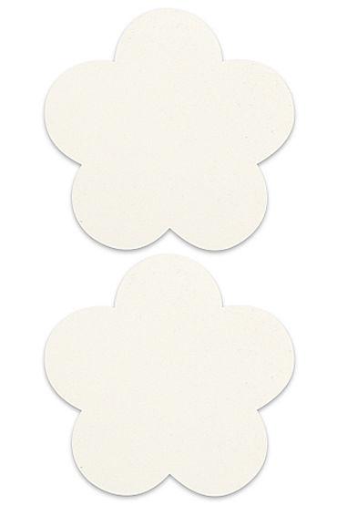 Shots Toys Nipple Sticker Blossom, белые Пэстисы в форме цветочков