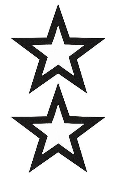 Shots Toys Nipple Sticker Open Stars, черные Пэстисы в форме звездочек, с отверстиями для сосков