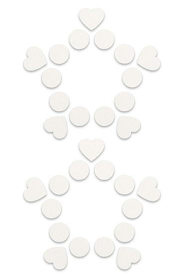Shots Toys Nipple Sticker Open Circle and Hearts, белые Пэстисы, сердечки и кружочки, не закрывают соски lelo smart wands электрический массажер женский вибратор секс игрушки для взрослых m фиолетовый