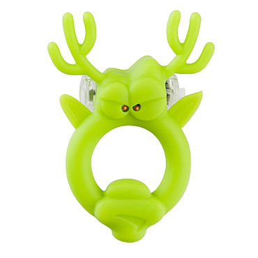 Shots Toys Rockin Reindeer Эрекционное виброкольцо в виде оленя вибрирующие фаллопротезы и страпоны для женщин длина 16 18 см