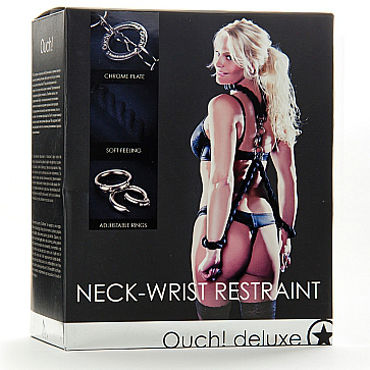 Shots Toys Luxury Neck Wrist Restraint - подробные фото в секс шопе Condom-Shop