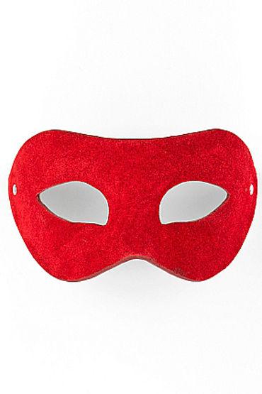 Shots Toys Eye Mask Suede, красная Маска на глаза, универсальной формы ресницы перья blue queen