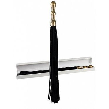 Shots Toys Luxury Whip, черная Многохвостая плеть