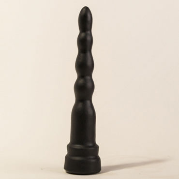 Bioclon Анальная елочка, черная С ограничительным основанием bioclon анальная елочка черная с ограничительным основанием