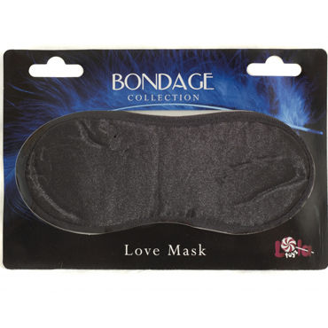 Lola Toys Bondage Love Mask, черная Маска на глаза topco tlc magic massager массажер для тела