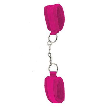 Ouch Velcro Cuffs, розовые Наручники на липучке оковы и кандалы ouch