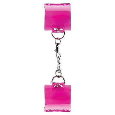 Shots Toys Bad Romance Translucent Handcuffs with Velcro Наручники на липучке