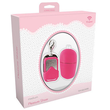 Toyz4lovers Lovely Egg Pleasure Shiver Medium, розовое - фото, отзывы