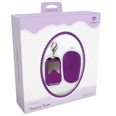 Toyz4lovers Lovely Egg Pleasure Shiver Medium, фиолетовое - фото, отзывы
