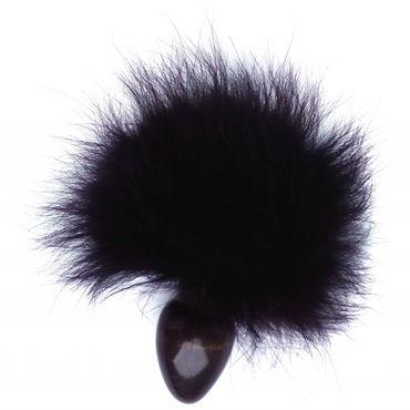Wild Lust Анальная пробка 3 см, черная С заячьим хвостом wild lust анальная пробка 4 см черная