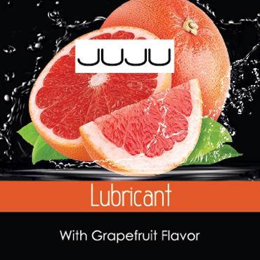 JuJu Lubricant Grapefruit Съедобный Лубрикант, саше 3мл Со вкусом грейпфрута beastly наножники ххх черные с 3 мя металлическими d кольцами