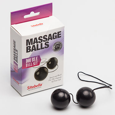 Sitabella Massage Balls Double Ball Set, черные Вагинальные шарики 0 loverspremium o balls set розовый