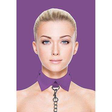 Ouch! Exclusive Collar  Leash, фиолетовый Ошейник-воротник с поводком