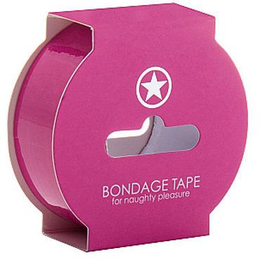 Ouch! Non Sticky Bondage Tape, розовая Лента для бандажа