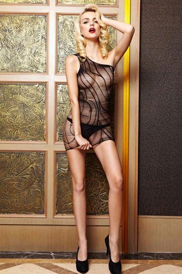 Le Frivole Платье Зебра На одно плечо эротическая одежда и обувь материал эластан