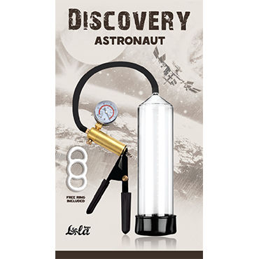 Lola Toys Discovery Astronaut Мужская вакуумная помпа с манометром dream toys помпа с электронным манометром
