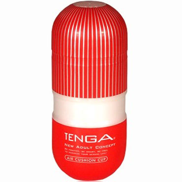 Tenga Air Cushion Cup Мастурбатор с резервуаром для лубриканта мастурбатор tenga double hole cup