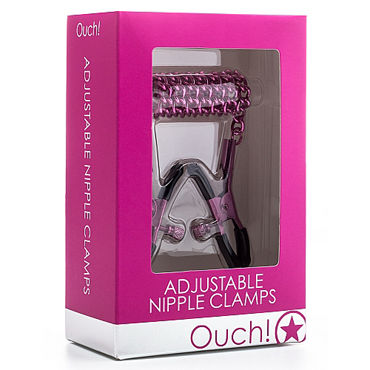 Ouch! Adjustable Nipple Clamps, розовые - фото, отзывы
