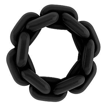 Shots Toys Sono Chain Cockring №5, черное Эрекционное кольцо классические духи с феромонами simply 15 мл