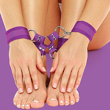 Ouch! Velcro Hand And Leg Cuffs, фиолетовый Комплект для бандажа