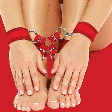 Ouch! Velcro Hand And Leg Cuffs, красный Комплект для бандажа