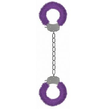 Ouch! Pleasure Legcuffs, фиолетовые Кандалы с мехом эрекционное вибро кольцо renegade man s ring черное